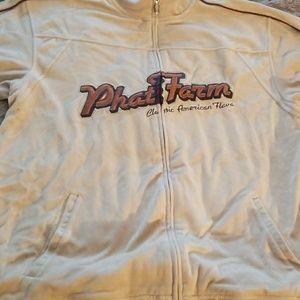Phat farm full zip velour jacket sz XL